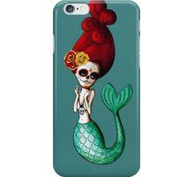 El Dia de Los Muertos Mermaid iPhone Case/Skin