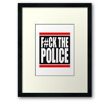 Fuck The Police Logo Framed Print