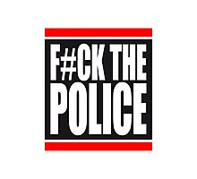 Fuck The Police Logo Photographic Print