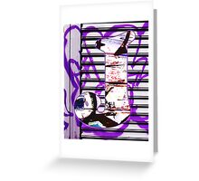 Urban Alphabet J Greeting Card