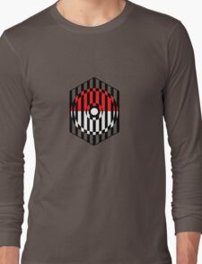 Screened Pokeball Long Sleeve T-Shirt