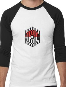 Screened Pokeball Men's Baseball ¾ T-Shirt