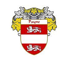 Payne Coat of Arms / Payne Family Crest Photographic Print