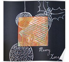 Xmas Card Design 5 by Heatherian Poster