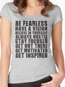 Be Fearless Women's Fitted Scoop T-Shirt