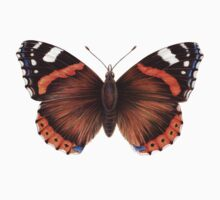 Red Admiral Butterfly Kids Tee