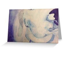 blue dog watercolor Greeting Card