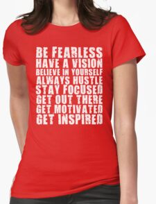 Be Fearless Womens Fitted T-Shirt
