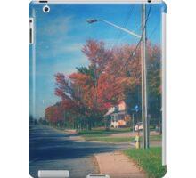 Vintage Fall Scene iPad Case/Skin