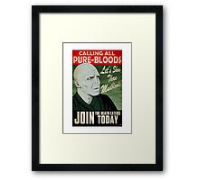 Join the Death Eaters Framed Print