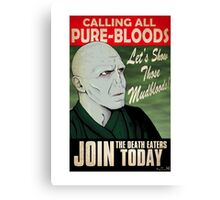 Join the Death Eaters Canvas Print