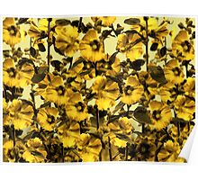 Happy Yellow HollyHock Design Poster