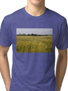 Golden Wheat Harvest, Ripening In The Wind Tri-blend T-Shirt