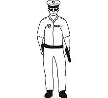 Cool police man guy by Style-O-Mat