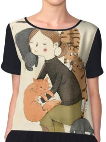 Cat Love Chiffon Top