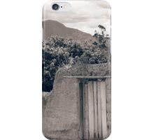 Stone Gate With Mount Cotacachi in the Background iPhone Case/Skin