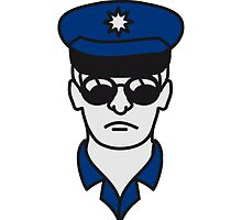 Cool police man face head by Style-O-Mat