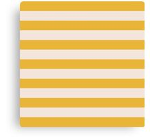 Yellow and Natural Gold Stripes Collection Canvas Print