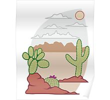 Cactus in the Desert Poster