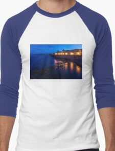 Syracuse, Sicily Blue Hour - Ortygia Evening Mood Men's Baseball ¾ T-Shirt