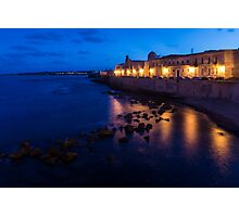 Syracuse, Sicily Blue Hour - Ortygia Evening Mood Photographic Print