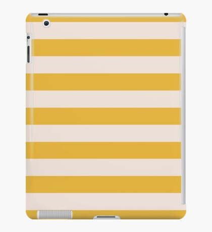 Yellow and Natural Gold Stripes Collection iPad Case/Skin