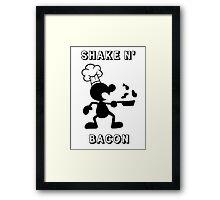 Shake & Bacon Framed Print