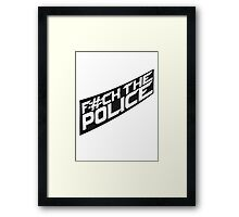 Cool Fuck The Police Logo Design Framed Print
