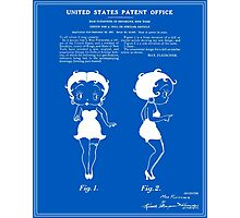 Betty Boop Patent - Blueprint Photographic Print