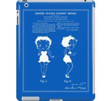 Betty Boop Patent - Blueprint iPad Case/Skin