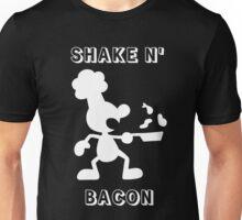 Shake & Bacon (White) Unisex T-Shirt