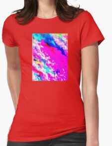 Glitchy Pinkness Womens Fitted T-Shirt