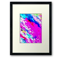 Glitchy Pinkness Framed Print