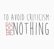 Avoid Criticism by Samuel Telford
