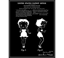 Betty Boop Patent - Black Photographic Print
