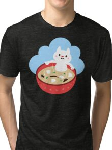 Miso Cat Tri-blend T-Shirt