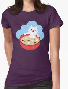 Miso Cat Womens Fitted T-Shirt