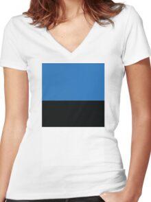 Estonia Flag Women's Fitted V-Neck T-Shirt