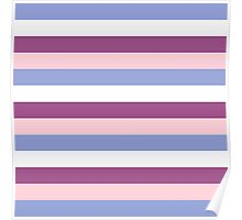 Elegant Pink and Purple fashion Stripes { navy Dream collection } Poster