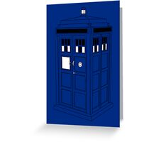 TARDIS (Minimal) Greeting Card