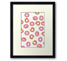 Pink Frosted Donuts white Framed Print