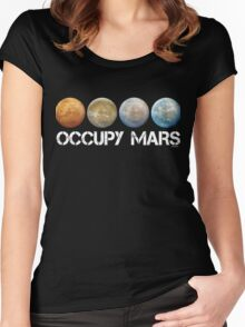 Occupy Mars Terraform Women's Fitted Scoop T-Shirt