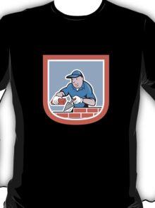 Bricklayer Mason Plasterer Worker Cartoon T-Shirt