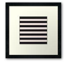Elegant Black and Pink fashion Stripes Framed Print