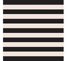 Elegant Black and Pink fashion Stripes Photographic Print