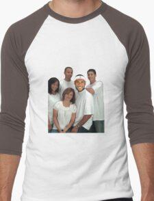Lebron and Steph Family Portrait Men's Baseball ¾ T-Shirt