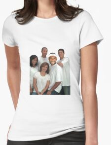 Lebron and Steph Family Portrait Womens Fitted T-Shirt