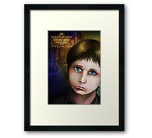 The sad crying child Framed Print