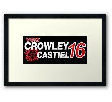 Crowley / Castiel 2016 Framed Print