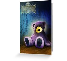 Lonely Teddy Bear Toy Greeting Card